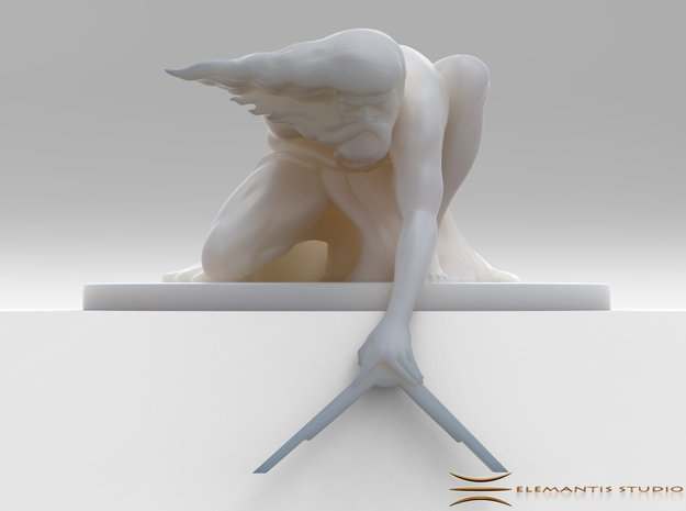 The Ancient of Days Statuette in White Natural Versatile Plastic