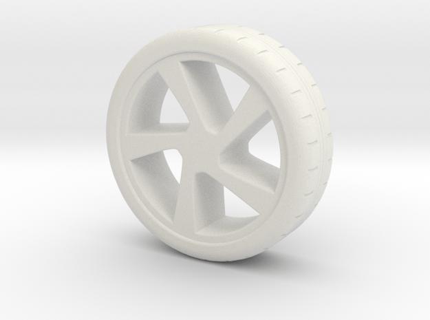 wheel in White Natural Versatile Plastic