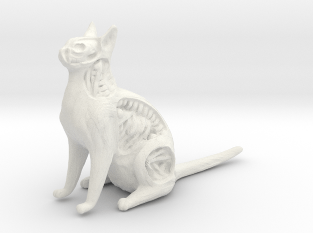 White Walker Cat in White Natural Versatile Plastic