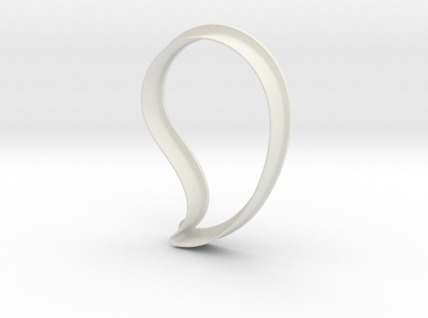 Paisley Cookie Cutter in White Natural Versatile Plastic