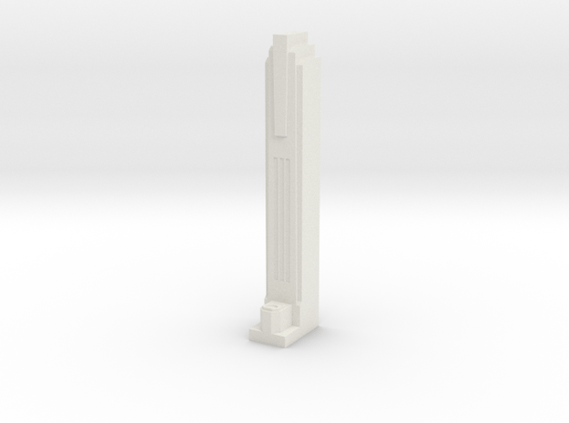 Triple Underpass Walkway Pillar in White Natural Versatile Plastic