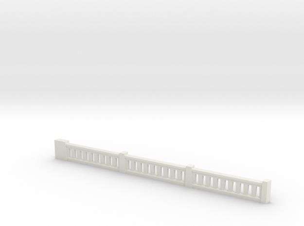 Triple Underpass Corner Top Rail in White Natural Versatile Plastic