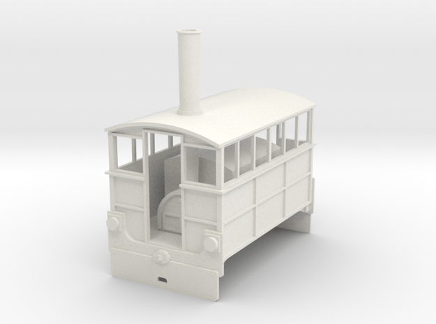 Hughes Tram Engine 7mm scale Wantage Tramway in White Natural Versatile Plastic