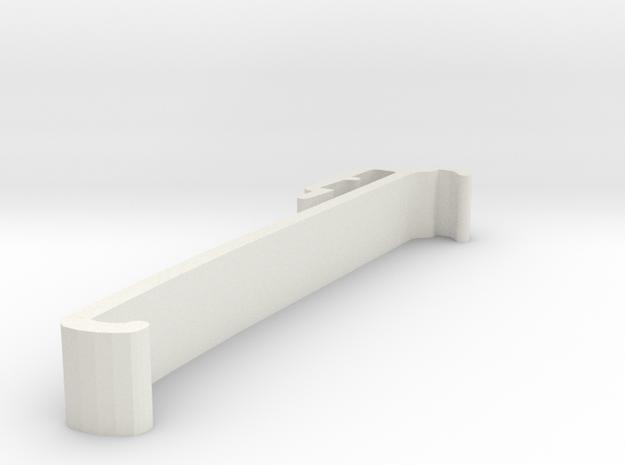 Blind Valance Clip 00172 in White Natural Versatile Plastic