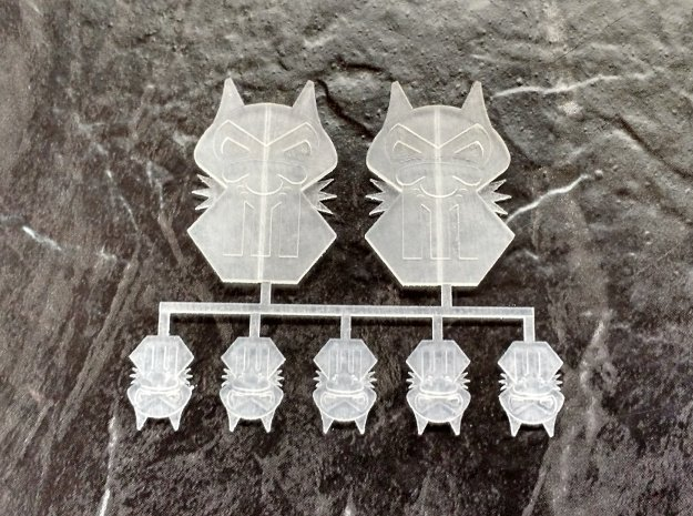 Vehicle Icon Set - Iron Jackals in Smoothest Fine Detail Plastic