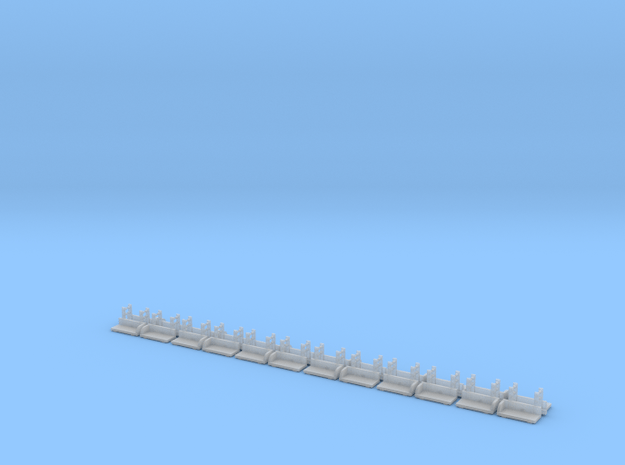 160 N-Scale Footboards in Smoothest Fine Detail Plastic