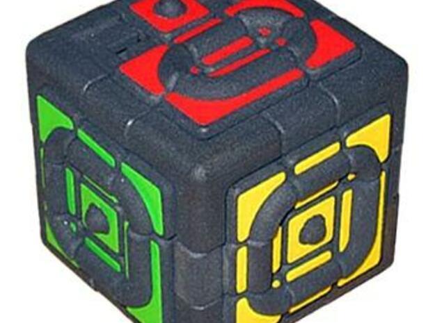 Get Stuck Cube in White Natural Versatile Plastic