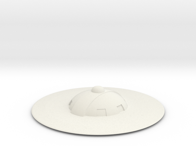 Saucer series 2 in White Natural Versatile Plastic