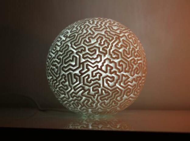 labirynth lamp  in White Natural Versatile Plastic