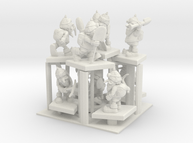 SHAFTED: Wealthy White Gnomes Plastic in White Natural Versatile Plastic