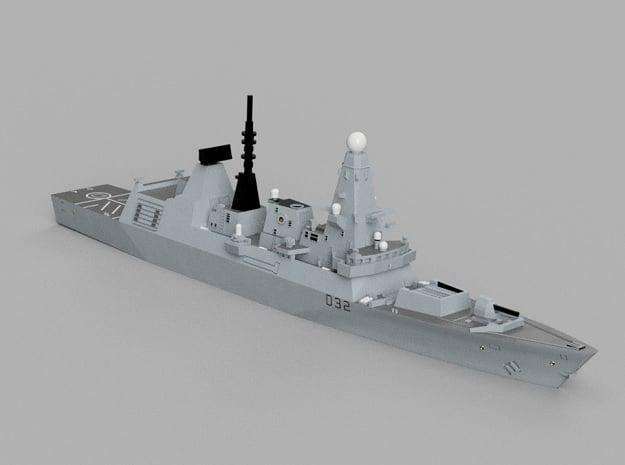 1/1800 HMS Daring in Smooth Fine Detail Plastic