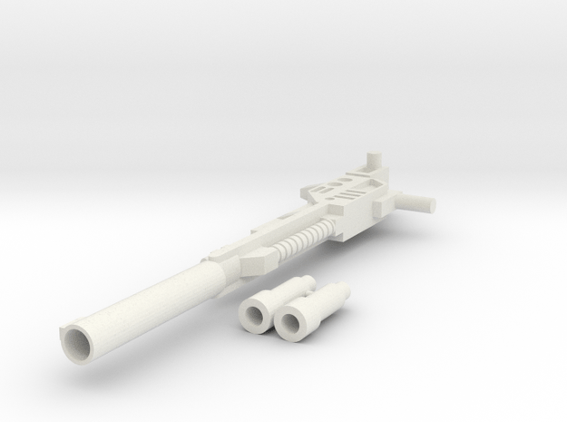 Combiner Wars - Onslaught/Bruticus' Weapon in White Natural Versatile Plastic