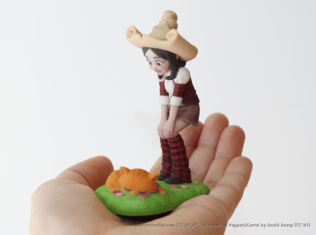 Pepper & Carrot Figurine in Full Color Sandstone