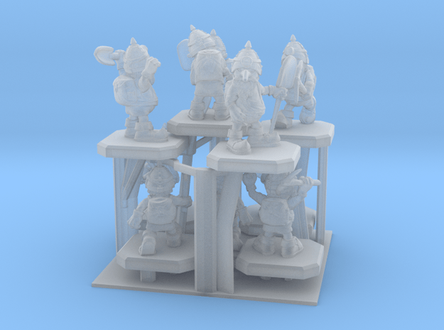 SHAFTED: Brilliant Blue Gnomes Frosted in Smoothest Fine Detail Plastic