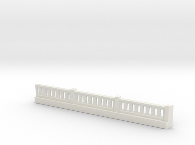 Triple Undepass SE Wing Wall Complex in White Natural Versatile Plastic
