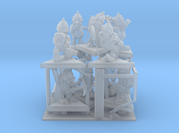 SHAFTED: Resplendent Red Gnomes Frosted in Smoothest Fine Detail Plastic