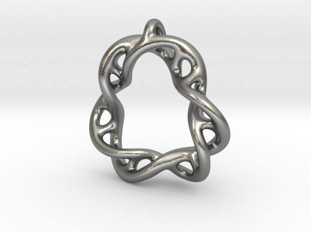 30th Anniversary Pendant in Natural Silver