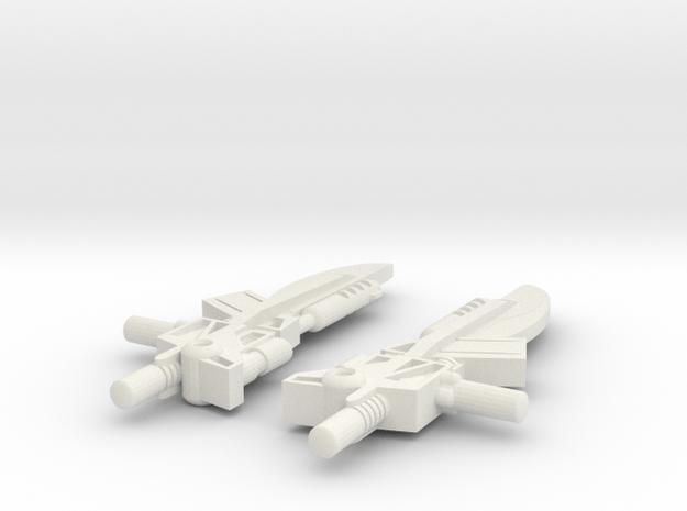 Titans Return Pounce Weapons in White Natural Versatile Plastic