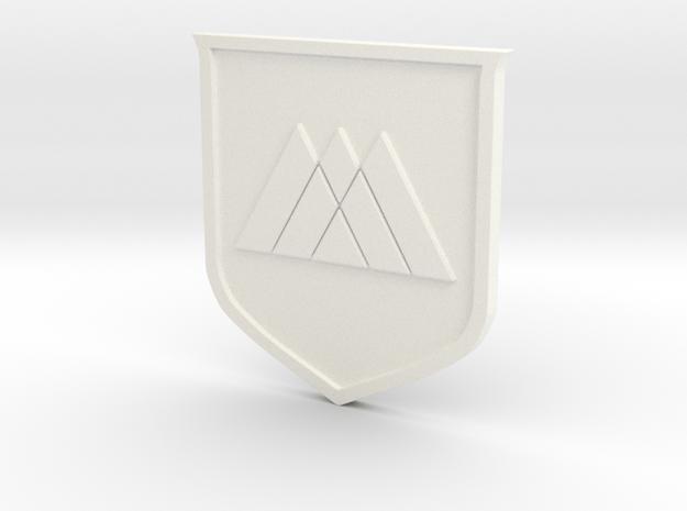 Warlock Sigil in White Processed Versatile Plastic