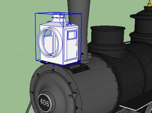 D&RG Box Headlight  in Smooth Fine Detail Plastic: 1:48 - O