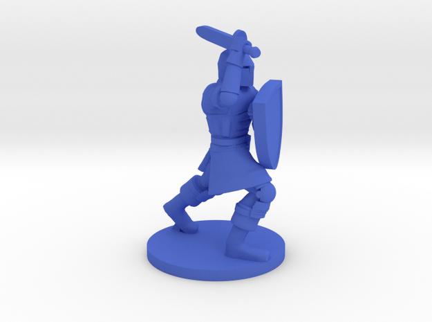 Questing Knight in Blue Processed Versatile Plastic