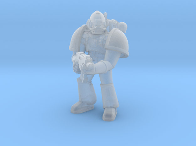 Space Jarhead 28mm miniature in Smooth Fine Detail Plastic