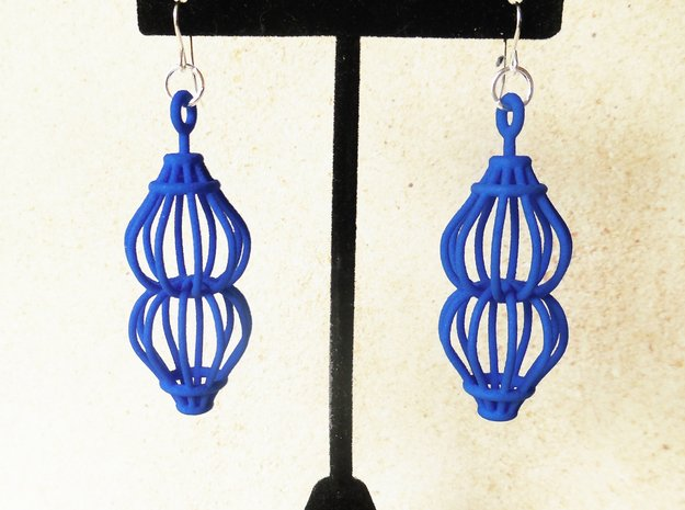 Ruth - Earrings in Plastic in Blue Processed Versatile Plastic