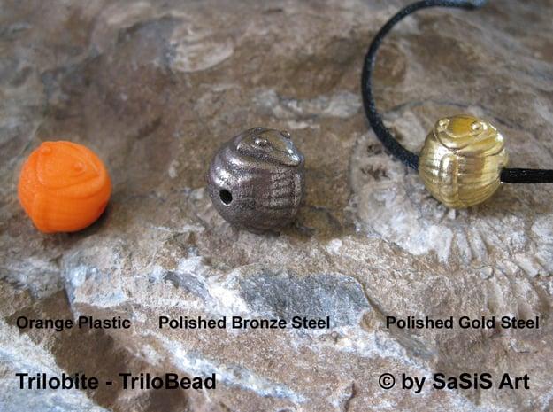 Trilo Bead Trilobite  in Orange Processed Versatile Plastic