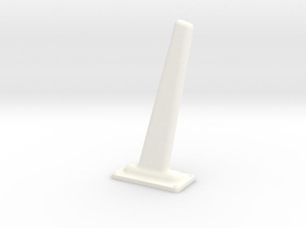 1.7 ANTENNE FOUET in White Processed Versatile Plastic