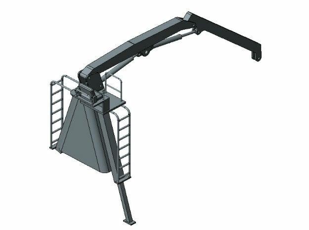 1/50 Prentice log loader crane in Smooth Fine Detail Plastic