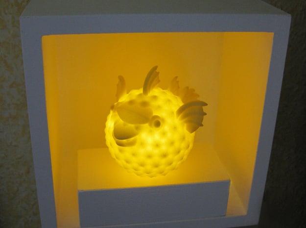 BlowFish Lamp in Yellow Processed Versatile Plastic