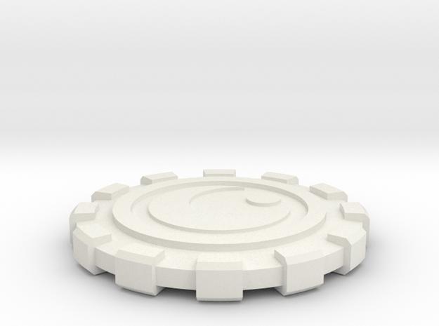 Canto Bight Casino Chip in White Natural Versatile Plastic