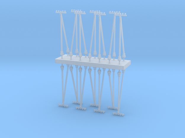 Electric pole type B - T Scale 1:450 14 pcs set in Smoothest Fine Detail Plastic