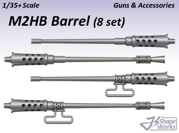 1/35+ M2HB Barrel (8 set) in Smoothest Fine Detail Plastic: 1:35