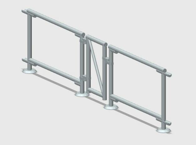 6' Chain-link Man Gate Frame in White Natural Versatile Plastic: 1:87 - HO