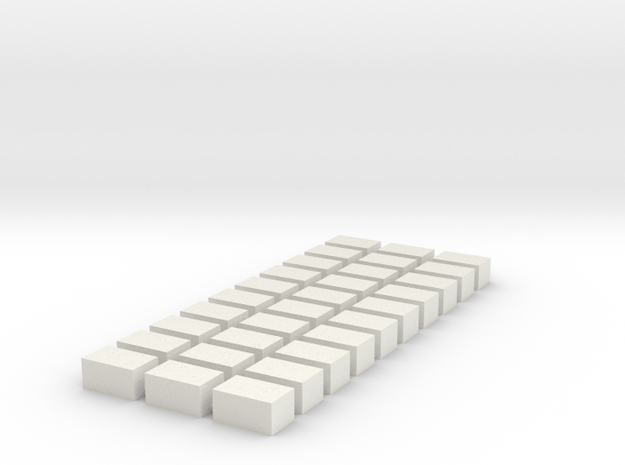 Strohballen Quader 30er Set 1:120 in White Natural Versatile Plastic