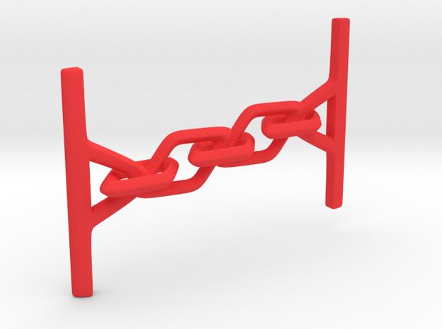 Clasp in Red Processed Versatile Plastic