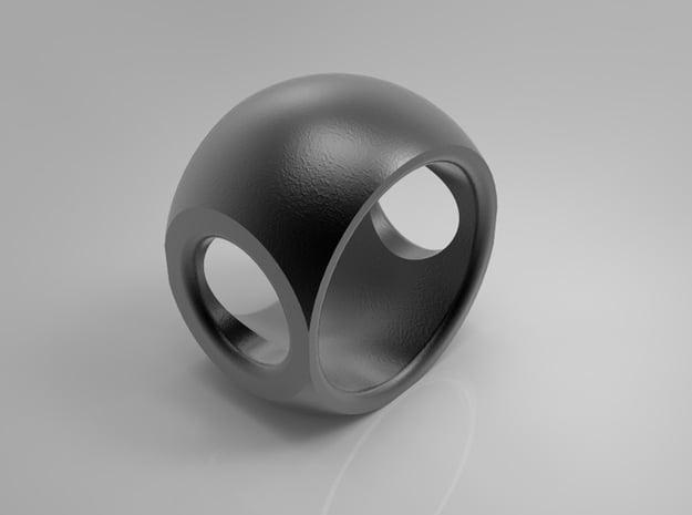 RING SPHERE 1 SIZE 8  in Matte Black Steel