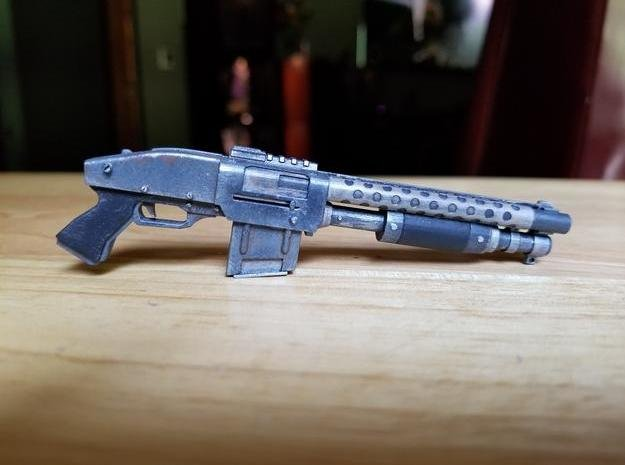 Zx76 Double Barrel Shotgun 1:6 scale in Smooth Fine Detail Plastic