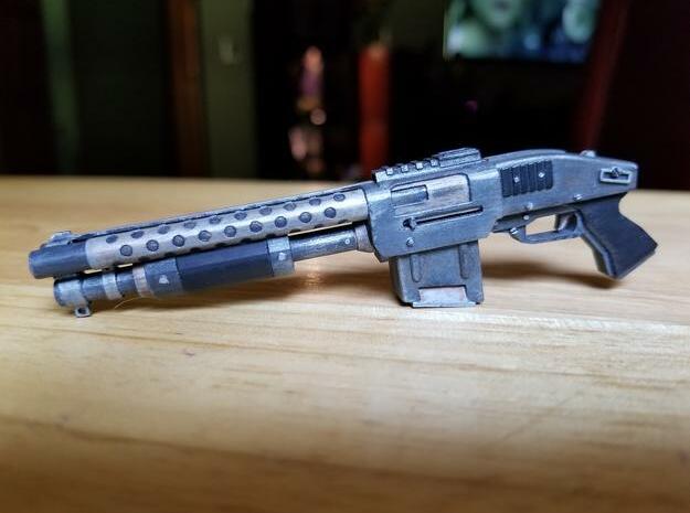 Zx76 Double Barrel Shotgun 1:10 scale in Smooth Fine Detail Plastic