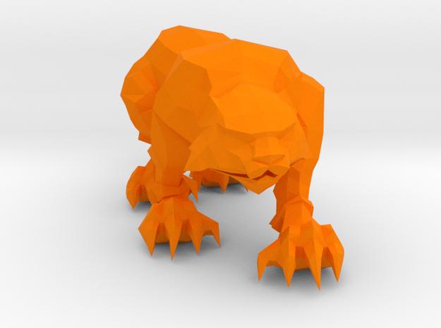 Monk Spirit Tiger in Orange Processed Versatile Plastic