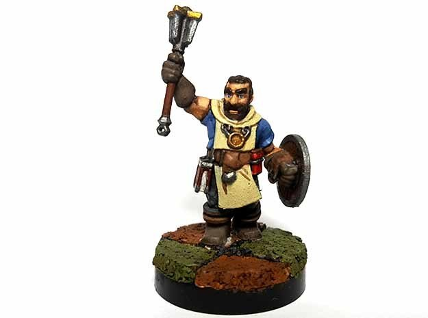 Dwarf Cleric in Smooth Fine Detail Plastic