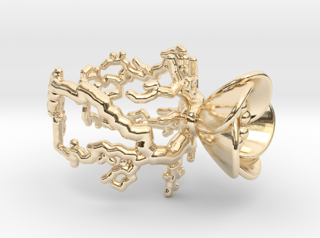 Half open flower ring (US sizes 5.75 – 9.75) in 14k Gold Plated Brass: 9 / 59