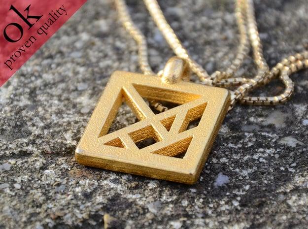 tangram pendant in Polished Brass