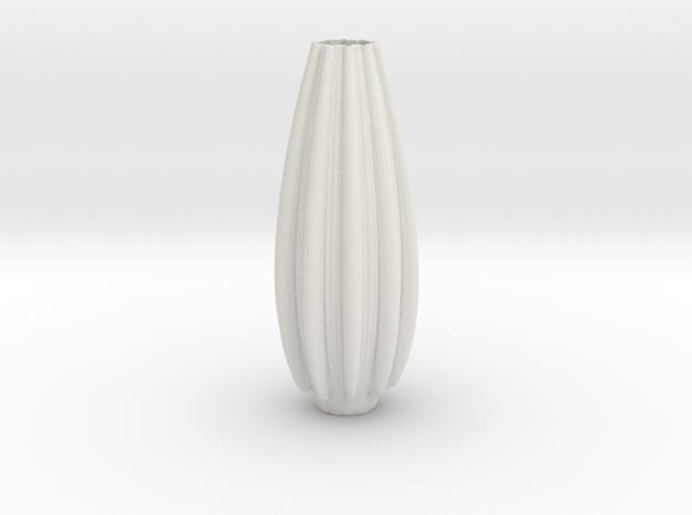 Vase 231 in White Natural Versatile Plastic