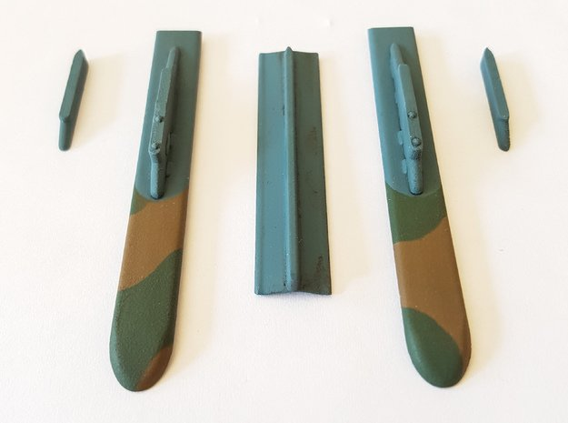 Mirage F1 AZ 14 Bomb Config Pylons Only in Smooth Fine Detail Plastic: 1:72