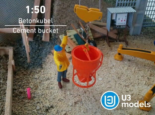 1:50 Betonkubel / Cement bucket / Cubo de cemento in White Processed Versatile Plastic