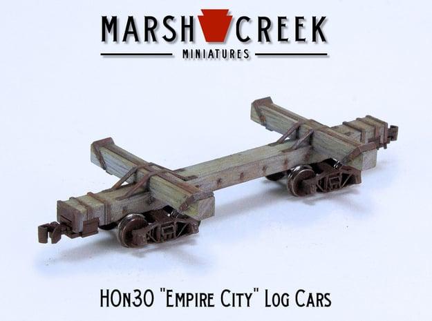 HOn30 Empire City Log Car in Smoothest Fine Detail Plastic
