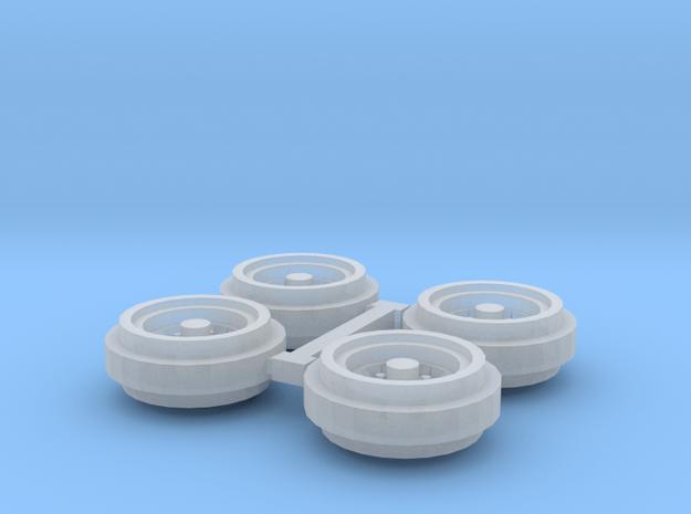 1/64 80s Steel Rims (1 Set) in Smooth Fine Detail Plastic