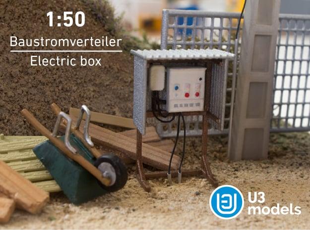 1:50 Baustromverteiler / Electric box / Cuadro elé in White Processed Versatile Plastic
